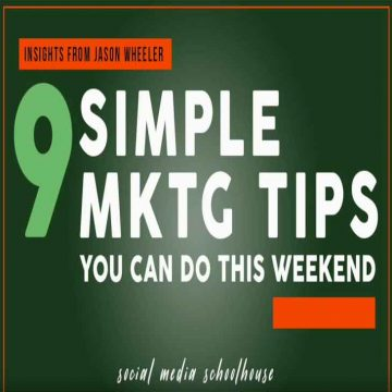 9 simple marketing tips you can do this weekend