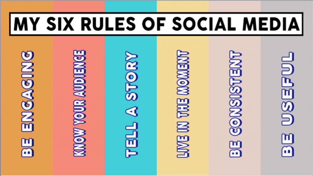 My Six Rules of Social Media