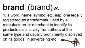 dictionary definition of brand