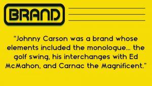 johnny carson's brand