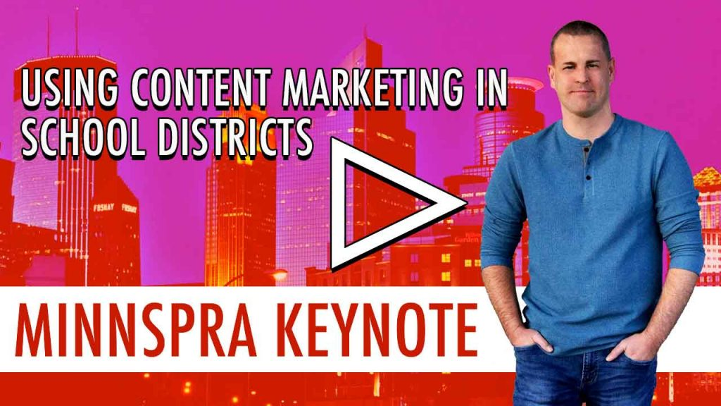how to use content marketing in school marketing