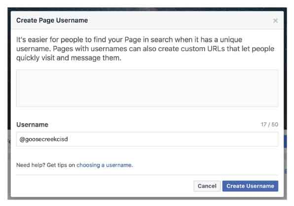 Creating a custom URL on Facebook