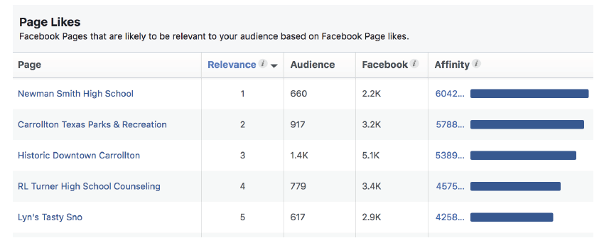 Using Audience Insights from Facebook to create ads