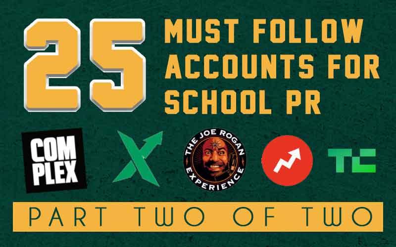 must read accounts for school marketing