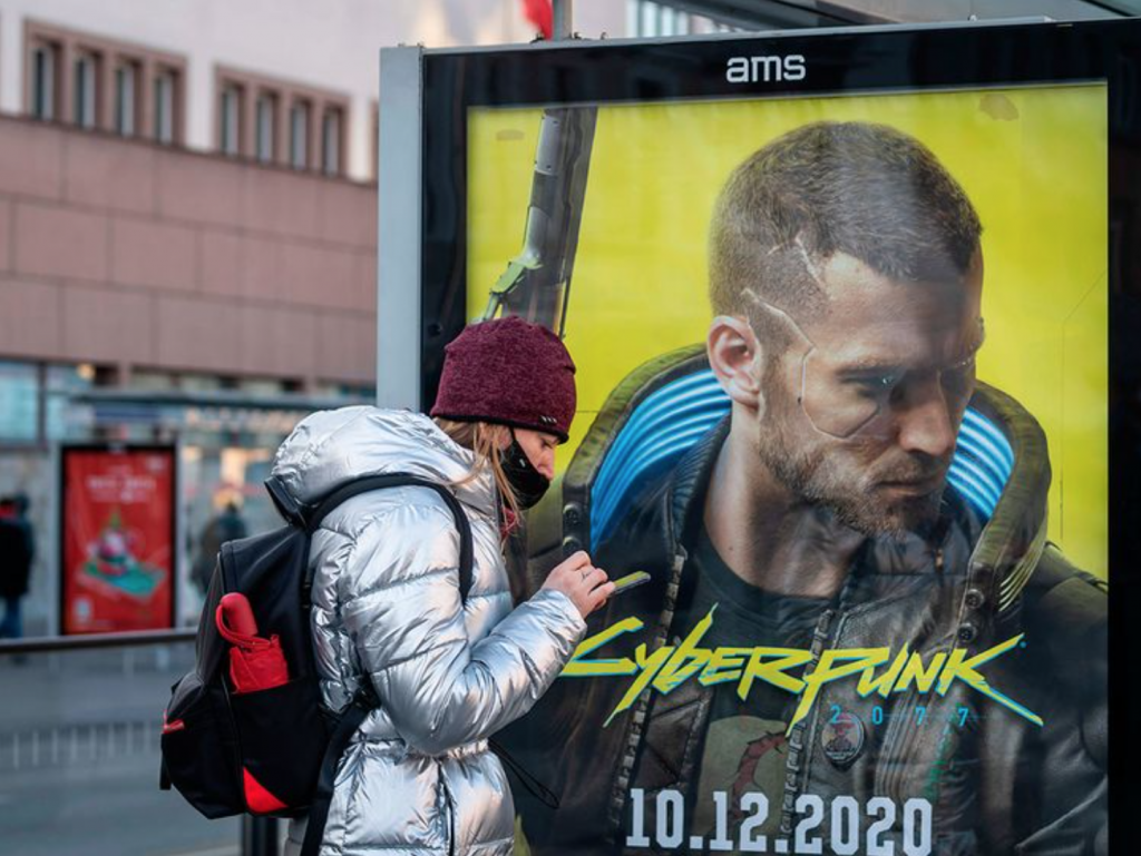 ad poster for cyberpunk