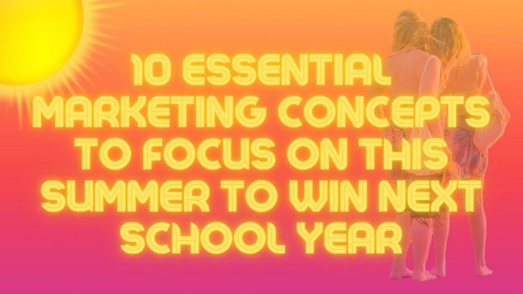 marketing yur school next school year